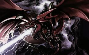 Картинка дракон, арт, пасть, Yu-Gi-Oh!