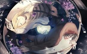 Картинка девушка, аниме, пара, парень, Ангел кровопролития, Satsuriku no Tenshi