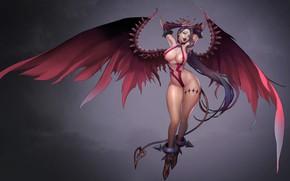 Картинка аниме, арт, демонесса, Royal blood, Biyo Biyo