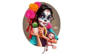 Картинка Девушка, Мексика, Мультяшка, Лера Кирьякова