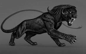 Картинка пантера, пасть, зверь
