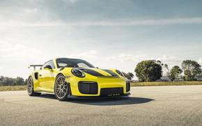 Картинка 911, Porsche, Sun, Yellow, VAG, Sight, GT2RS