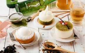 Картинка чай, ассорти, десерты