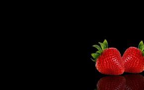 Картинка минимализм, клубника, пара, ягодЫ