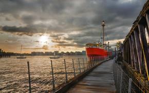 Картинка sunset, NYC, Hudson River