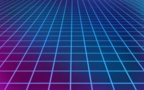 Картинка Музыка, Сетка, Фон, Neon, 80's, Synth, Retrowave, Synthwave, New Retro Wave, Futuresynth, Синтвейв, Ретровейв, Outrun