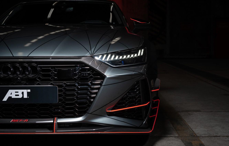 Фото обои Audi, фара, ABT, Sportback, RS7, 2020, RS7-R