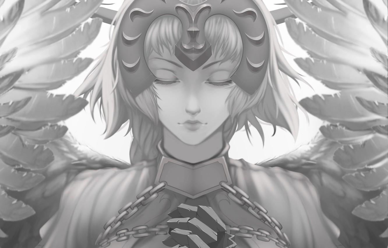 Фото обои девушка, ангел, аниме, Fate / Grand Order, Судьба великая кампания
