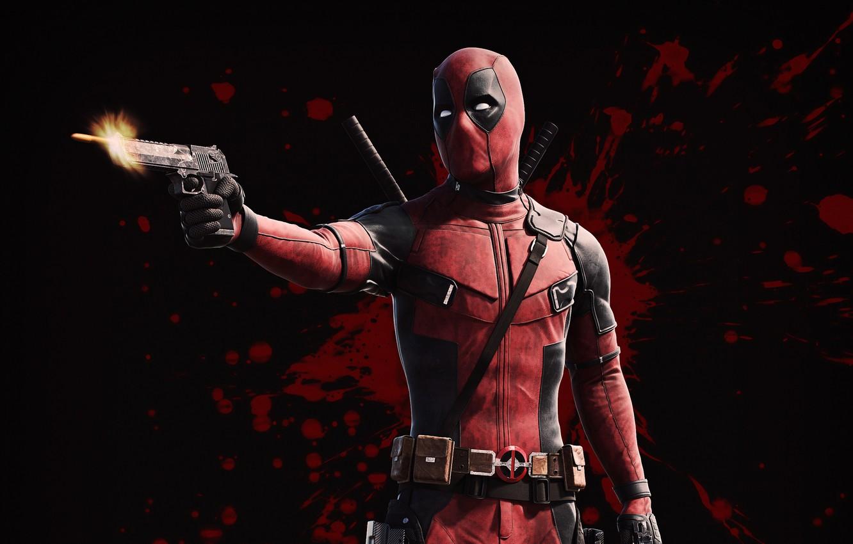 Обои пистолет, маска, Deadpool. Фантастика foto 9
