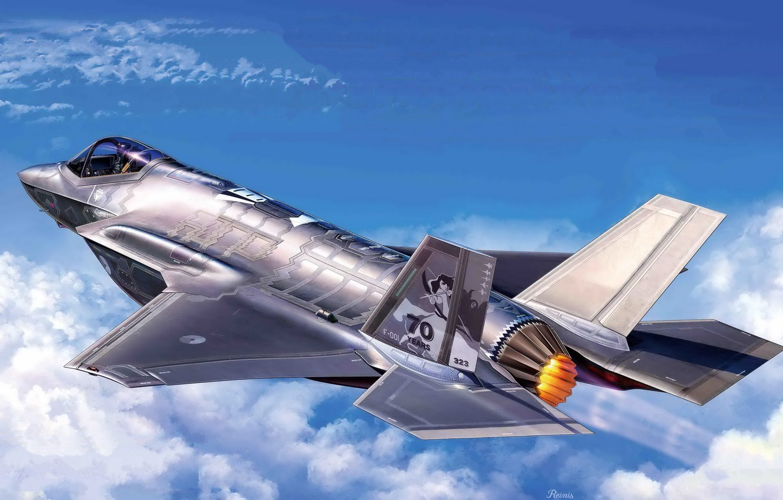 Обои истребитель, бомбардировщик, F-35, lightning ii. Авиация foto 7