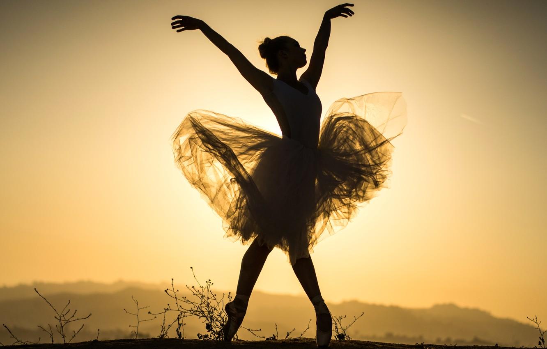 Фото обои girl, sexy, beautiful, pretty, brunette, attractive, silhouette, handsome, ballet dancer