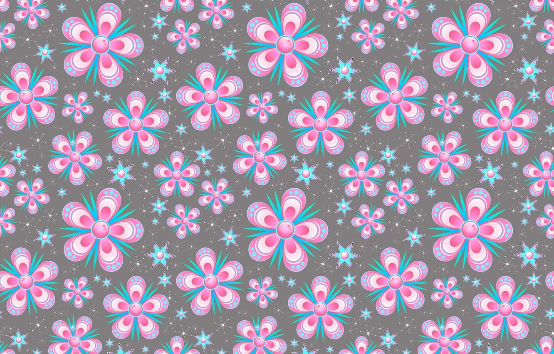 Фото обои цветы, снежинки, фон, графика, текстура, звёздочки, digital art