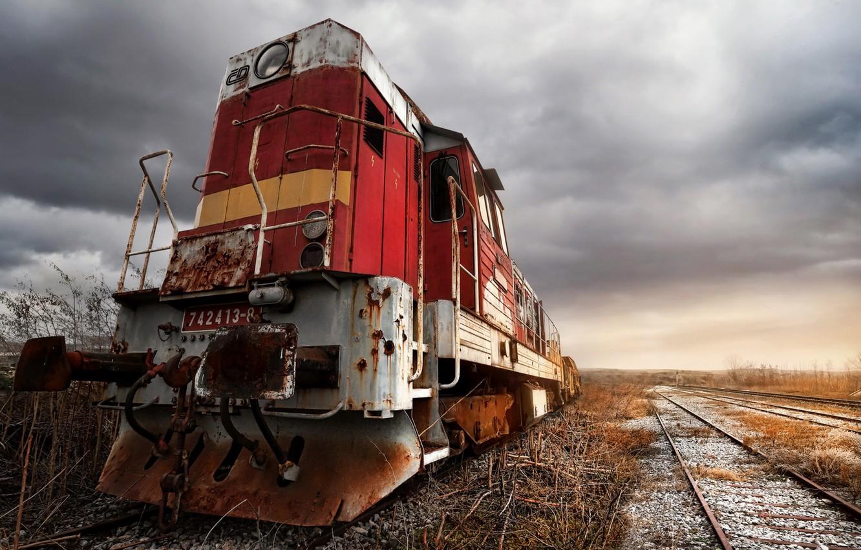 Фото обои поезд, техника, железная дорога