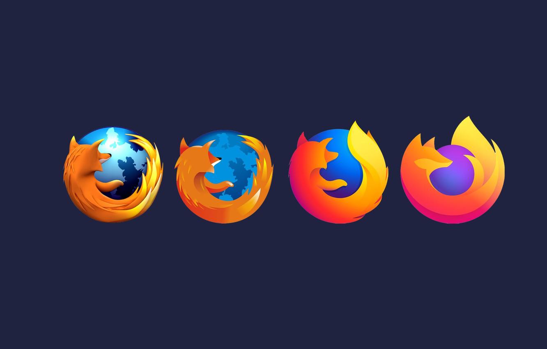 Фото обои минимализм, лого, Mozilla, браузер, эволюция, Mozilla Firefox, Firefox