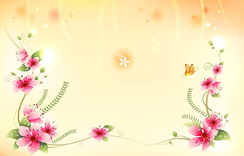 Обои вектор, абстракция, цветы, открытка. Разное foto 7