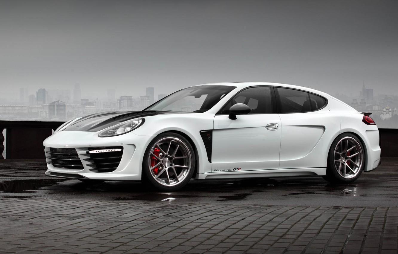 Фото обои TopCar, Porsche Panamera, Гран Туризмо, пятидверный спортивный фастбэк, Stingray GTR