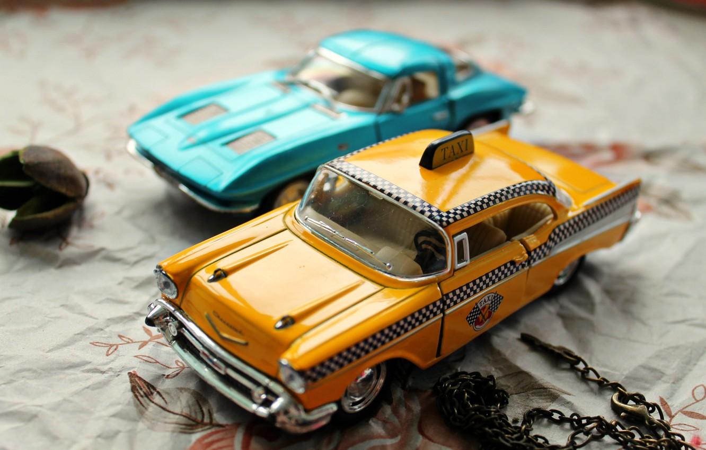 Фото обои машина, макро, машины, игрушка, игрушки, такси