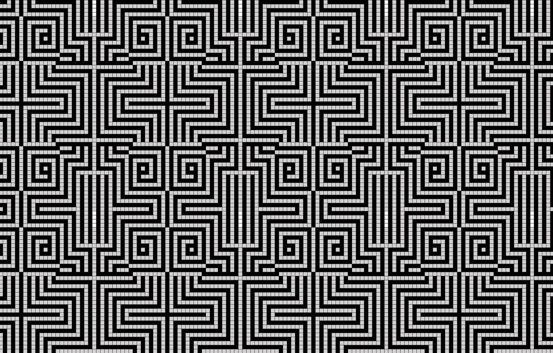 Фото обои узор, белое, чёрное, клетка