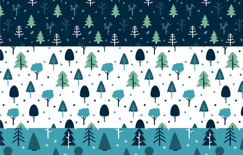 Фото обои зима, деревья, ёлки, Winter, pattern, collection