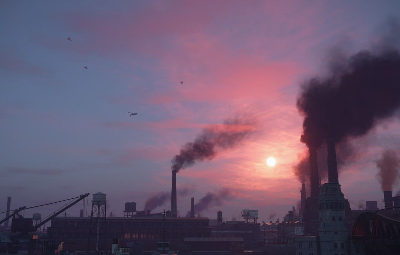 Фото обои city, день, the city of lost heaven, Mafia, Hangar 13, Mafia definitive edition, атмосфера города, …