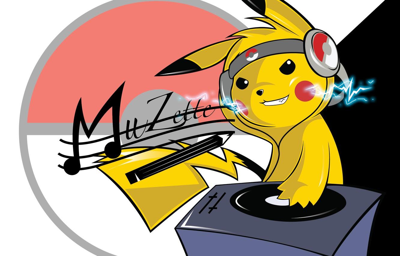 Фото обои диджей, Покемон, Pokemon, Пикачу
