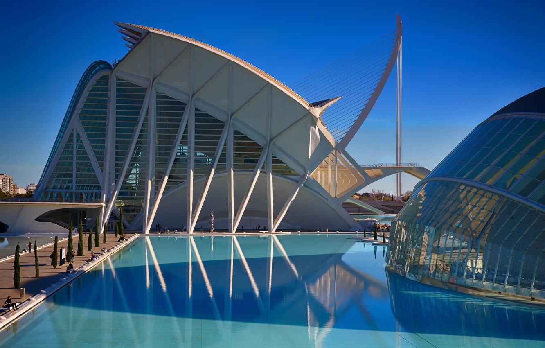 Фото обои Испания, Валенсия, Город искусств и наук