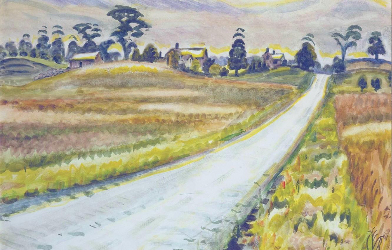 Фото обои Charles Ephraim Burchfield, 1943-45, The Shining Road
