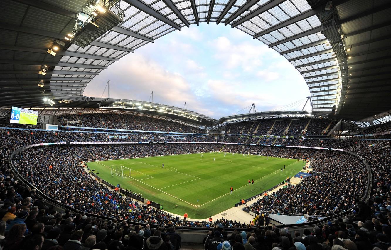 Фото обои футбол, стадион, Манчестер Сити, Manchester City, Etihad Stadium, Этихад