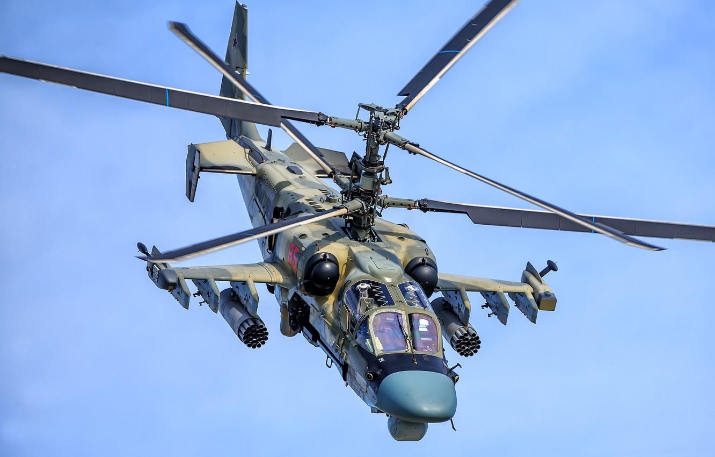 """Фото обои ВКС России, Ka-52, разведывательно-ударный вертолёт, Ка-52 """"Аллигатор"""""""