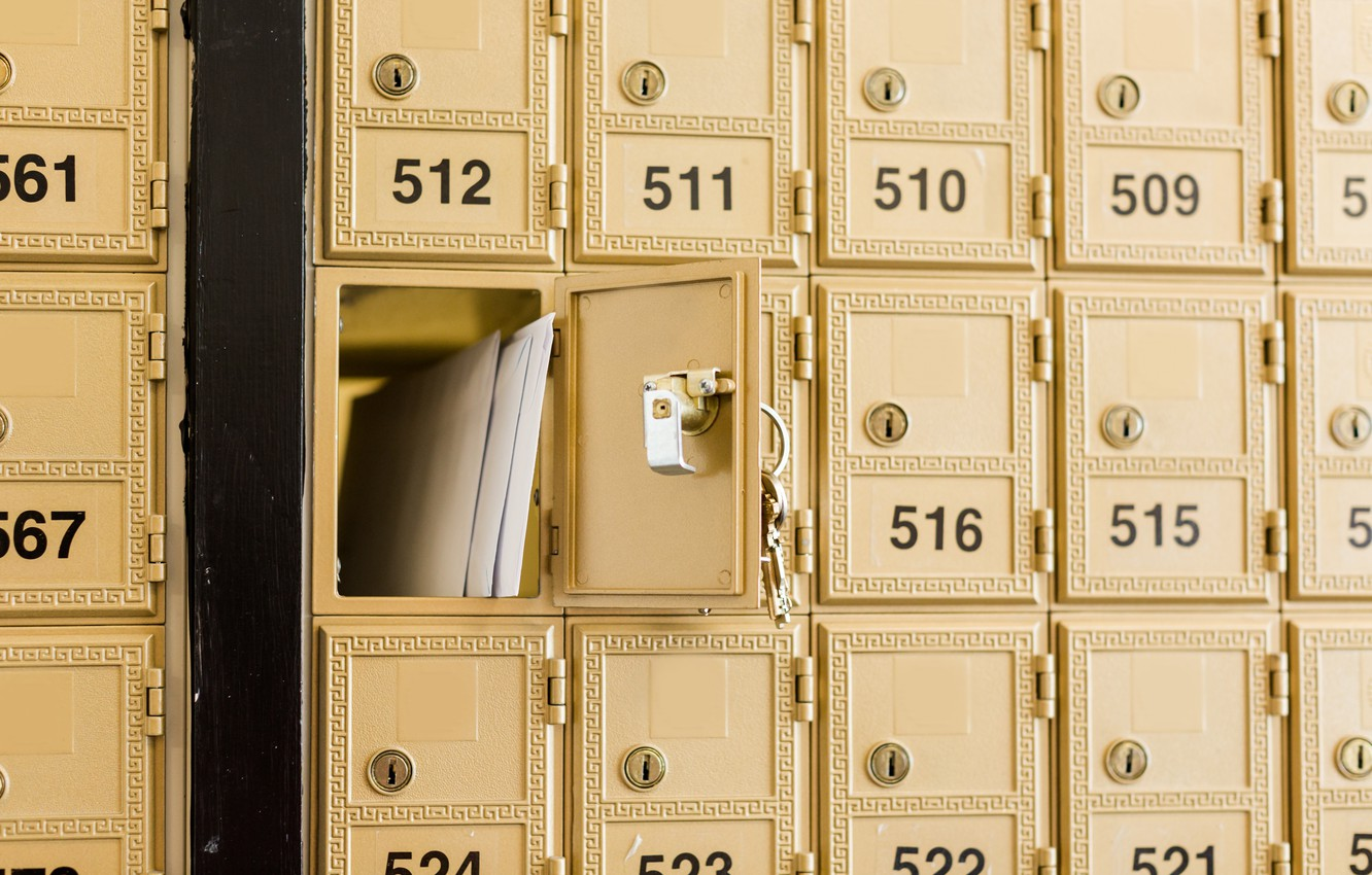 Фото обои metal, numbers, keys, mailbox, personal mail