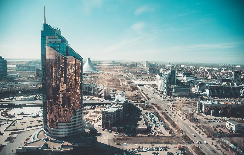 Обои здания, свет, дома, kazakhstan, казахстан. Города foto 12