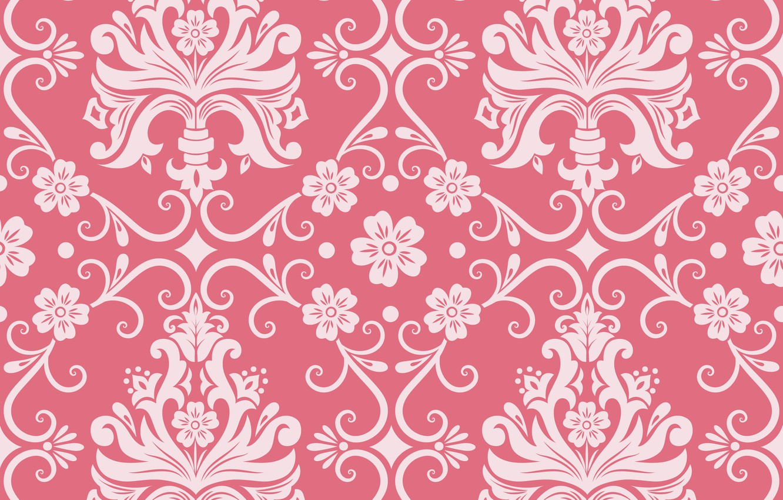 Фото обои цветы, фон, розовый, узор, орнамент, style, винтаж, ornament, seamless, victorian