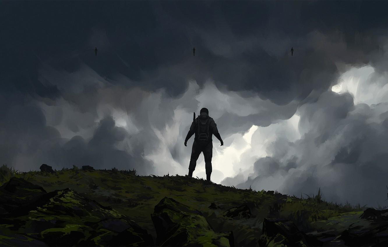 Фото обои Art, Game, Illustration, Game Art, Death Stranding, Roman Avseenko, by Roman Avseenko