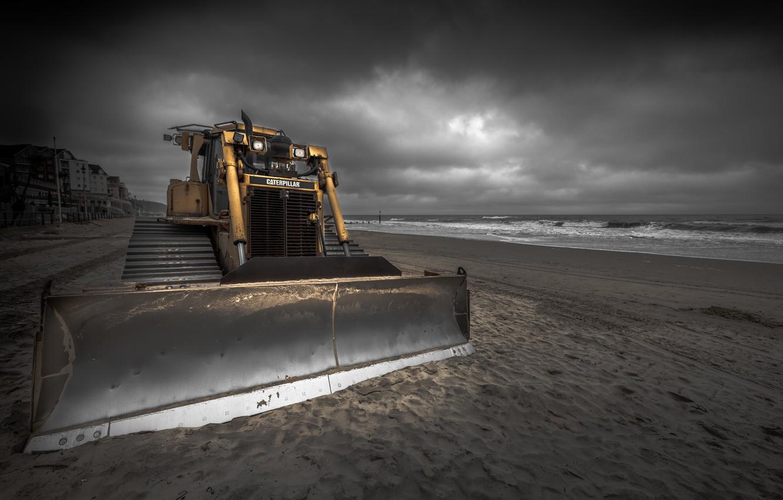 Фото обои трактор, England, Shifting Sands, Boscombe