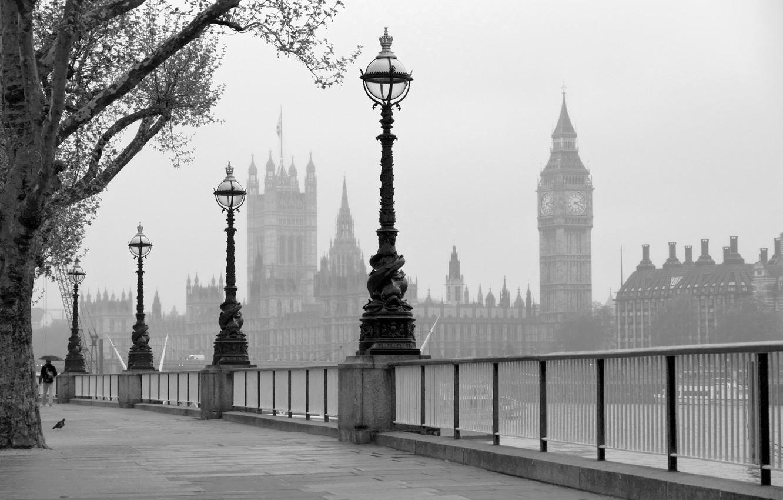 Фото обои Англия, Лондон, Темза, набережная