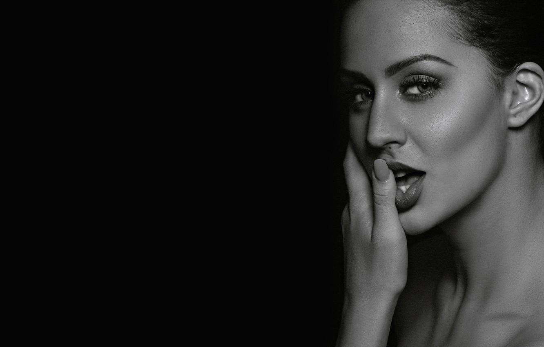 Фото обои girl, hot, sexy, eyes, smile, beautiful, figure, model, pretty, beauty, lips, face, hair, brunette, pose, …