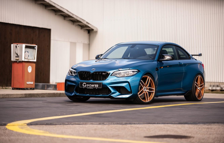 Фото обои BMW M2 G-Power 2019, BMW G-Power, BMW 2019 G-Power M2 Competition Light Blue, BMW M2 …