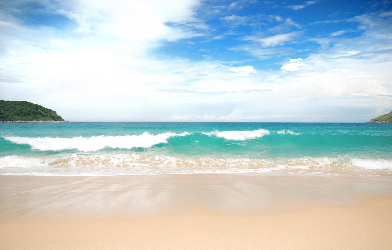 Фото обои песок, море, волны, пляж, лето, summer, beach, sea, blue, sand, wave