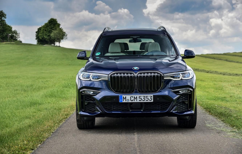 Фото обои BMW, спереди, кроссовер, SUV, 2020, BMW X7, M50i, X7, G07