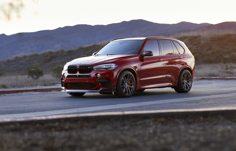 Фото обои BMW, RED, X5M, Sight, Adaptive LED