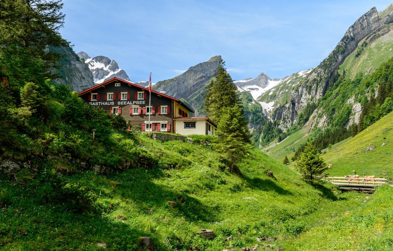 Обои дома, швейцария. Пейзажи foto 7