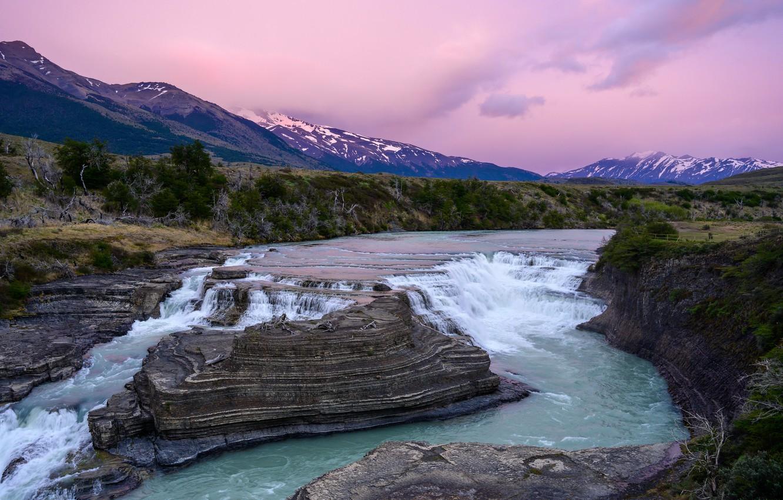 Фото обои пейзаж, горы, природа, река, Чили, Патагония