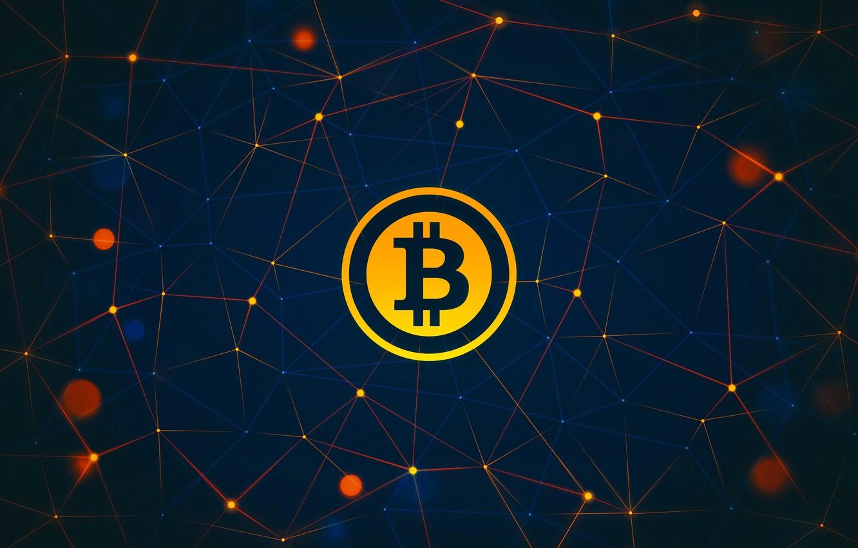 Фото обои лого, logo, fon, bitcoin, биткоин, btc