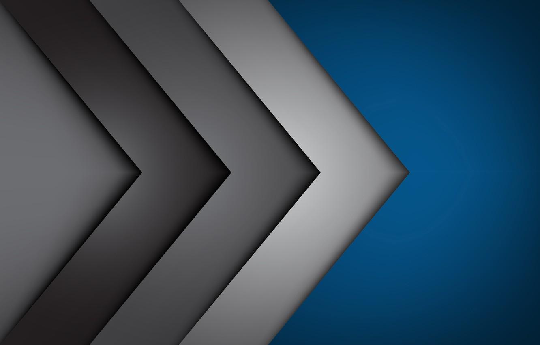 Фото обои линии, фон, углы, abstract, blue, lines, fon, gray, corners