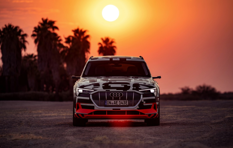Фото обои свет, Audi, вечер, 2018, E-Tron Prototype