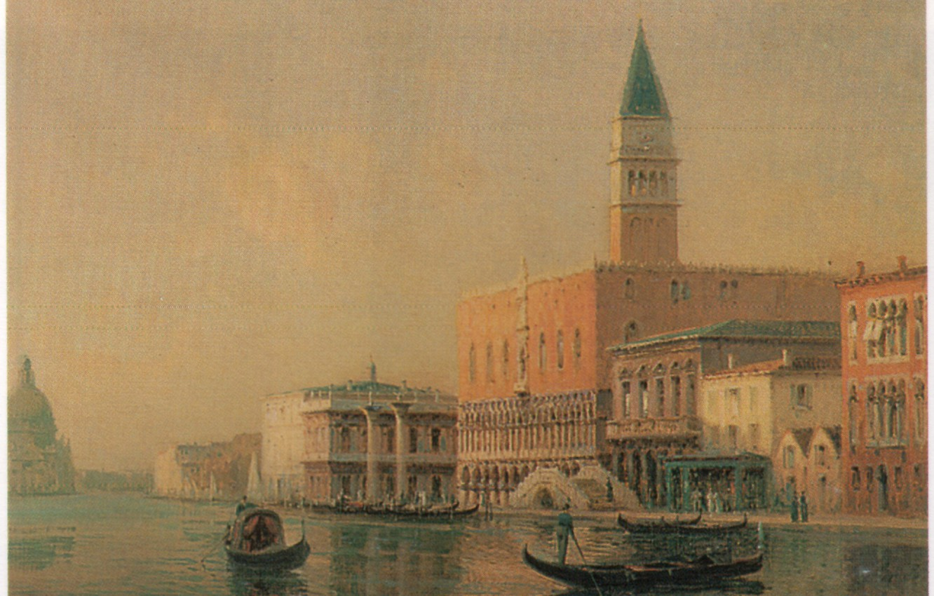 Фото обои BOUVARD, OF THE PIAZZA, GONDOLAS IN FRONT, SAN MARCO