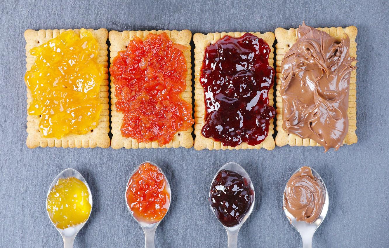 Фото обои печенье, джем, варенье