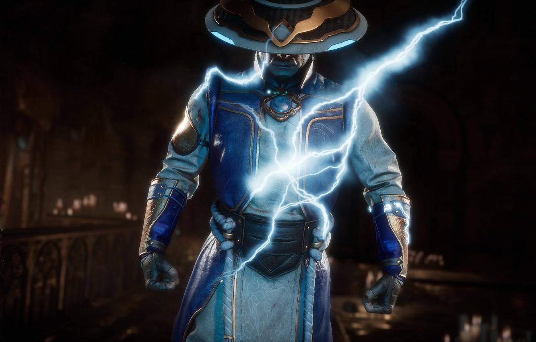 Фото обои lightning, Raiden, god of thunder, Mortal Kombat 11, MK 11, Смертельная Битва 11, Рэйден