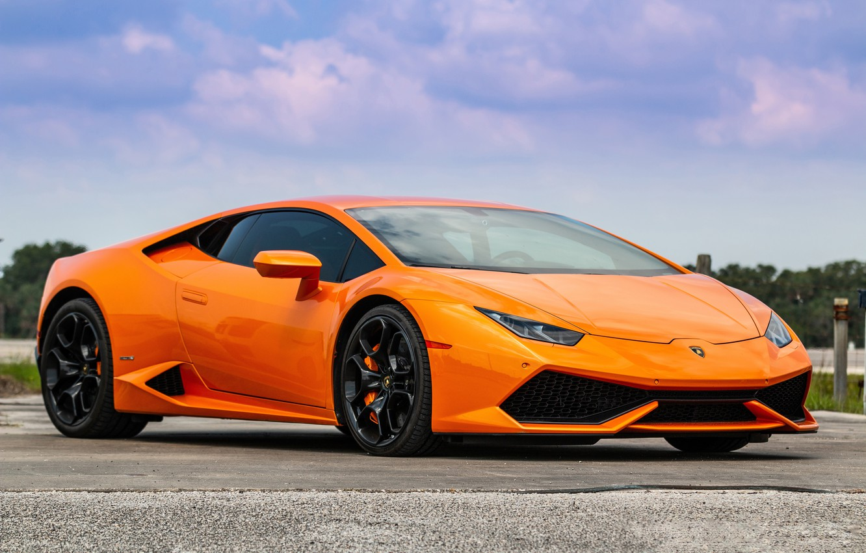Фото обои Lamborghini, Orange, Huracan, Porter 34