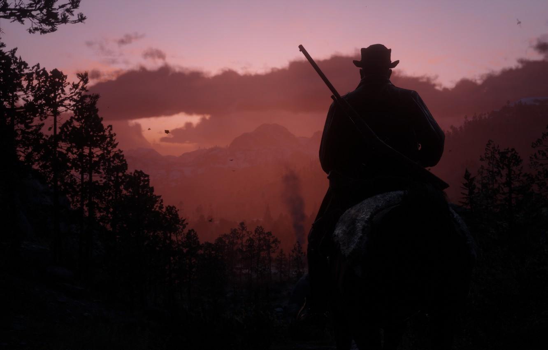 Фото обои Rockstar, Game, Rockstar Games, Red Dead Redemption 2, Gang, RDR